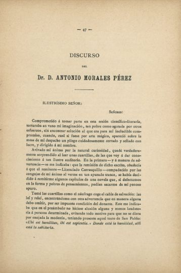 Dr. D. ANTONIO MORALES PÉREZ
