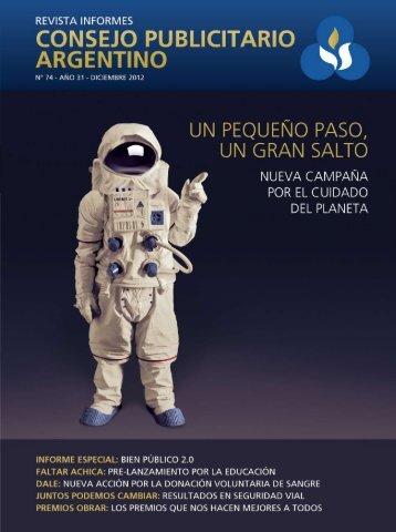 Ver Revista INFORMES Nº 74 en PDF - Consejo Publicitario Argentino