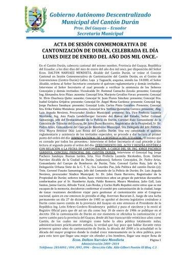 Gobierno Autónomo Descentralizado Municipal del ... - Duran.gob.ec