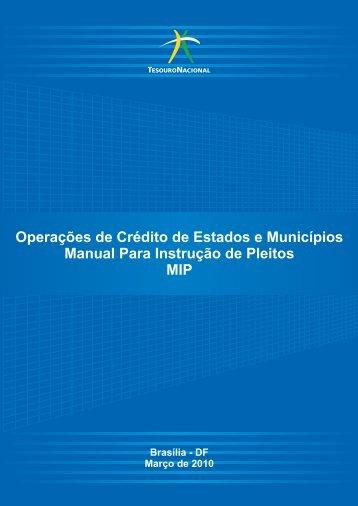 Operações de Crédito de Estados e Municípios Manual ... - AMUNES