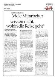Wirtschaftsblatt / kompakt 27.06.2008