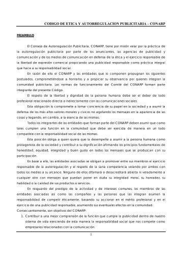 Código de Ética y Autorregulación Publicitaria - AAP