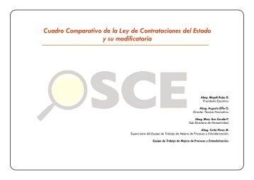 Cuadro Comparativo de la Ley de Contrataciones del Estado y su ...