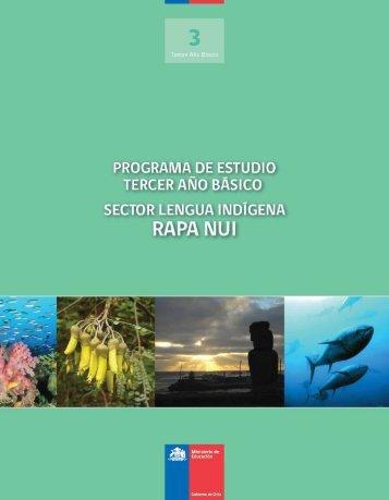 Lengua Rapa Nui - Ministerio de Educación
