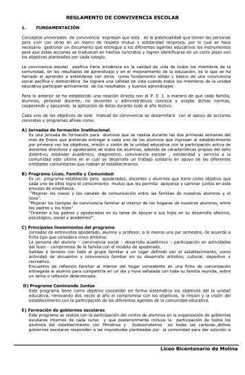 REGLAMENTO DE CONVIVENCIA ESCOLAR