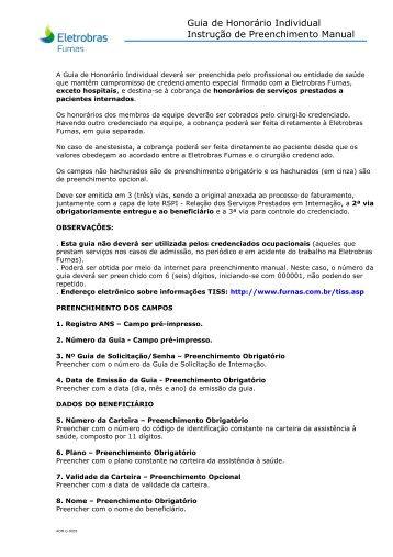 (3 . IP da Guia Honorário Individual Eletrobras Furnas Manual)