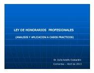 LEY DE HONORARIOS PROFESIONALES