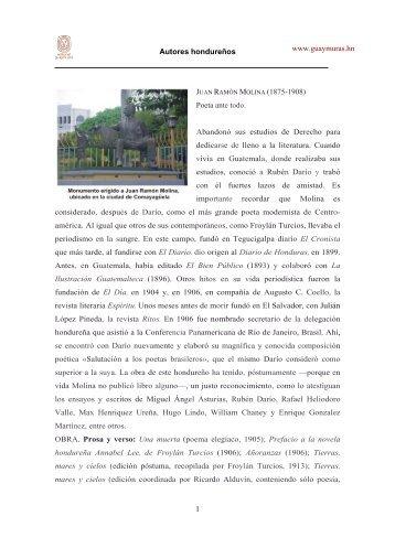 www.guaymuras.hn Autores hondureños 1 Poeta ante todo ...