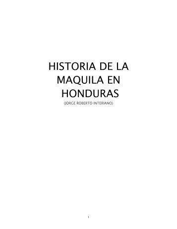 historia de la maquila en honduras - Asociación Hondureña de ...