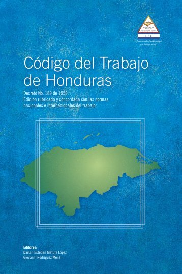 Código del Trabajo de Honduras - Observatorio Género y Economía