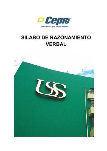 SÍLABO DE RAZONAMIENTO VERBAL