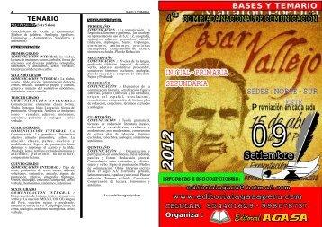BASES CESAR VALLEJO 2012 - Editorial Agasa