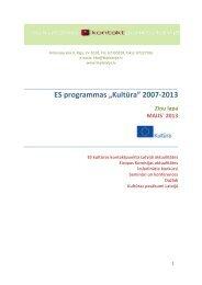 """ES programmas """"Kultūra"""" 2007-2013"""