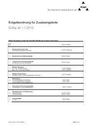 Entgelte Zusatzangebote 2013 - RSAG