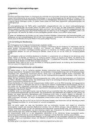 Allgemeine Leistungsbedingungen - RSAG