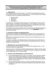 Betriebsordnung Papiersortieranlage Bonn - RSAG