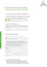 Wie funktioniert die Anmeldung zum Infomail-Service? - RSAG