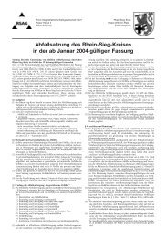 Abfallsatzung des Rhein-Sieg-Kreises in der ab Januar ... - RSAG