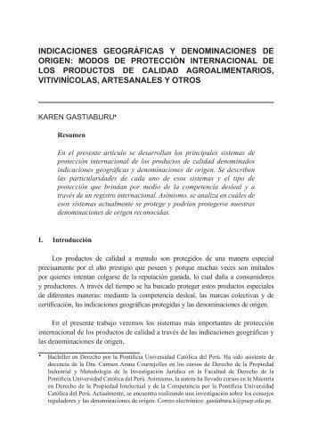 indicaciones geográficas y denominaciones de origen ... - Indecopi