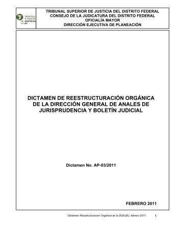 Dictamen - Poder Judicial del Distrito Federal