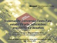 Tecnologia Texto > Fala - Universidade do Porto