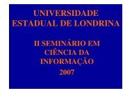 UNIVERSIDADE ESTADUAL DE LONDRINA - E-LIS