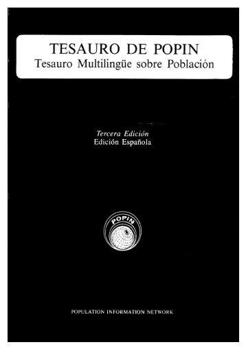 Tesauro Multilingüe sobre Población - CICRED