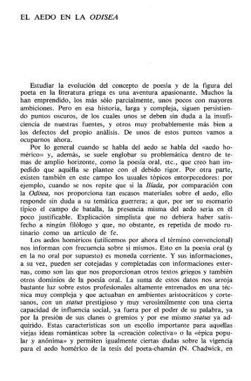EL AEDO EN LA ODISEA - InterClassica