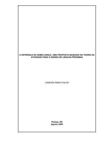 a diferença na semelhança - Universidade Católica de Pelotas