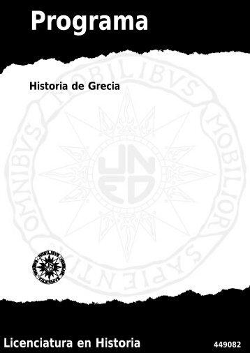 HISTORIA DE LA GRECIA ANTIGUA - UNED