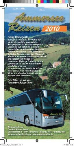 Unsere Tagesfahrten 2010 - Ammersee-Reisen in Herrsching