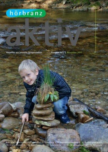 Aktuelles aus unserem Ortsgeschehen Ausgabe 183 | November 2011