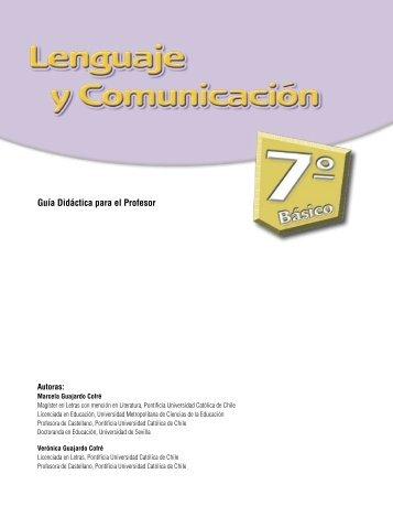 Guía Didáctica para el Profesor - Ministerio de Educación