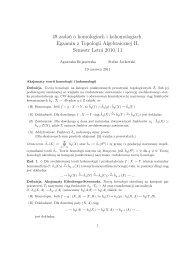 49 zadań o homologiach i kohomologiach. Egzamin z Topologii ...