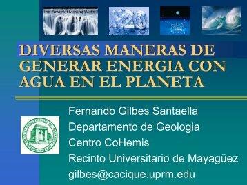 DIVERSAS MANERAS DE GENERAR ENERGIA CON AGUA EN EL ...