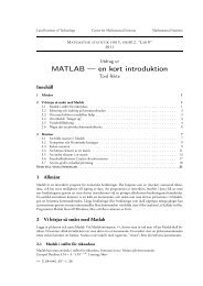 MATLAB — en kort introduktion