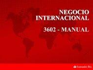 NEGOCIO INTERNACIONAL 3602 - MANUAL - Banco Santander Río