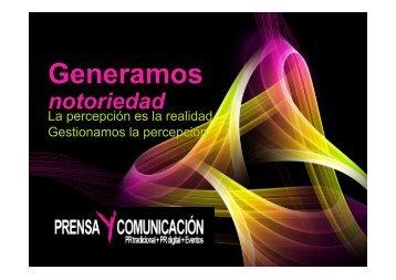 Descarga la Presentación en PDF - Prensa y Comunicación