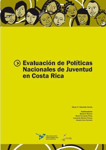 Evaluación de Políticas Nacionales de Juventud en Costa Rica, 2007