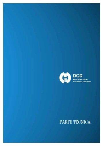 Catálogo parte técnica - DCD