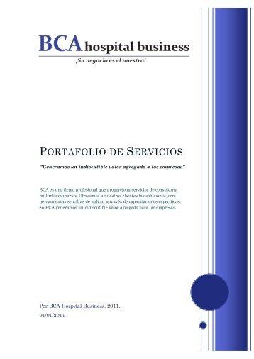 Portafolio de Servicios - BCA Hospital Business