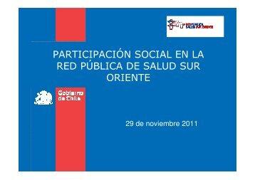Presentación Dr. Fernando Betanzo - Servicio de Salud ...