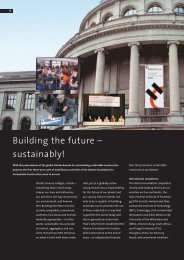 Building the future – sustainably!