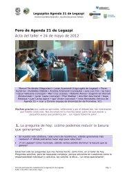 Foro de Agenda 21 de Legazpi Acta del taller 24 ... - Legazpiko Udala