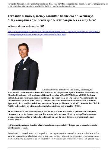 Entrevista Fernando Ramírez de Verger - Accuracy