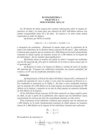 ECONOMETRBA I PRACTICA 1 SOLUCIONES. 2011/12 1 ... - RUA