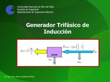 T06 - Generador trifásico de Inducción - INTRANET ::: Facultad de ...