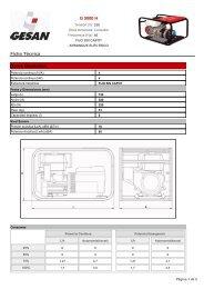 PDF. Ficha Técnica Generador G 5000 H - Suideia