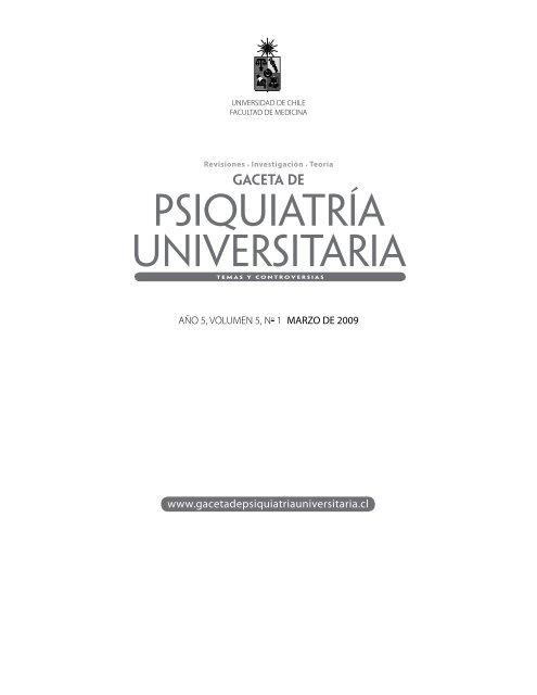Año 5, Vol. 5 - Nº 1 Marzo - Gaceta de Psiquiatría Universitaria