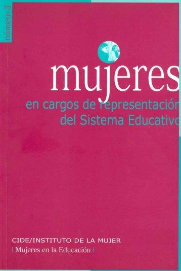 Mujeres en cargos de representación del sistema educativo